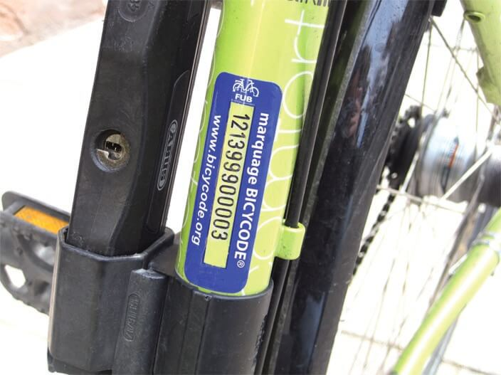 Gravure d'un numéro bicycode