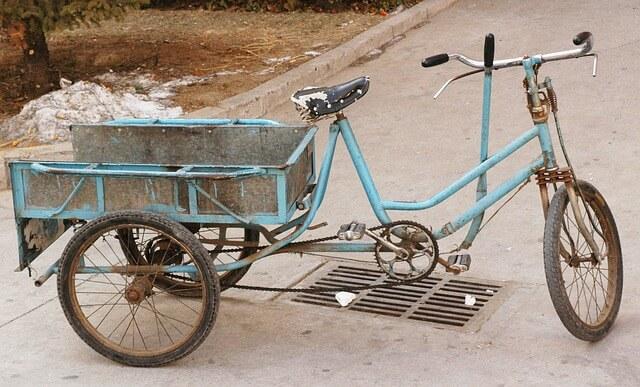 Exemple d'un vélo de voyage un peu atypique