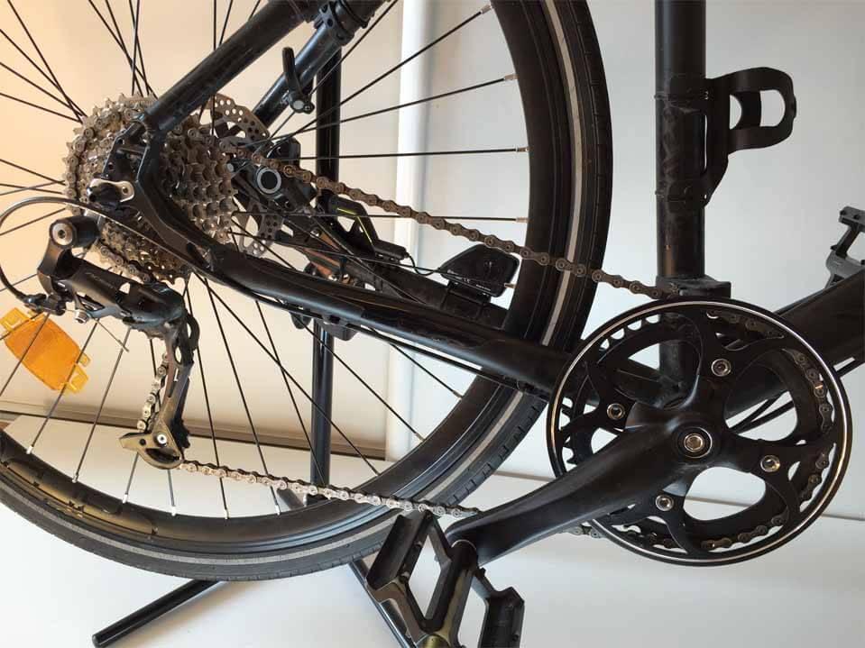 rouille sur chaîne de vélo