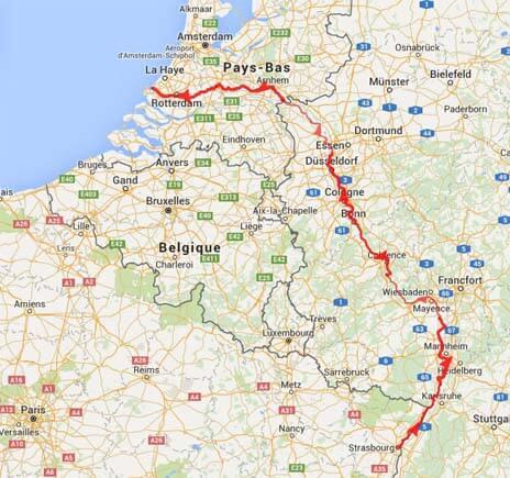 plan voyage eurovelo 15