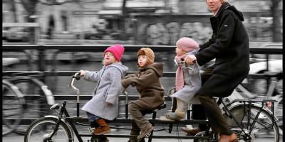 emmener ses enfants à l'école en vélo