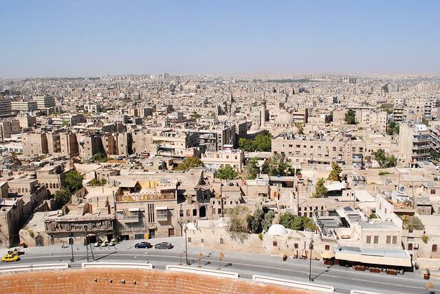 ville d'alep en syrie