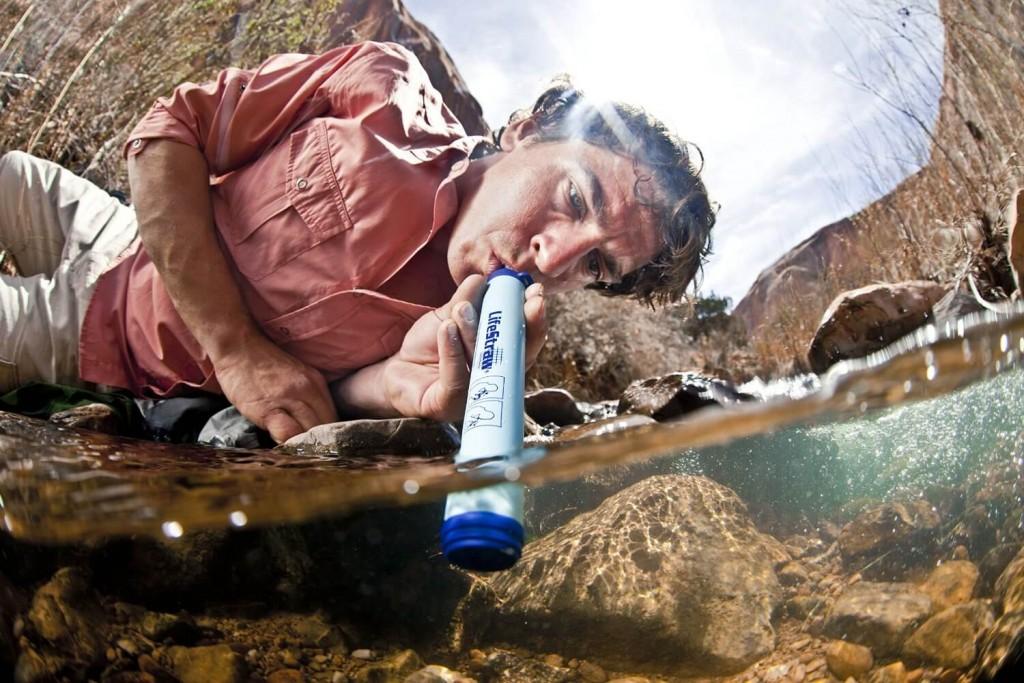 boire avec un filtre à eau