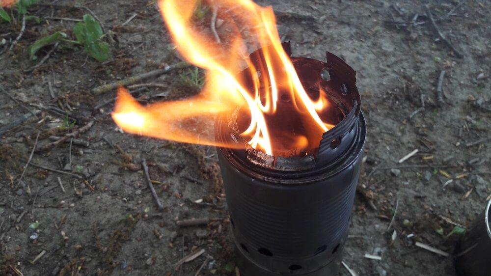 rechaud à bois feu
