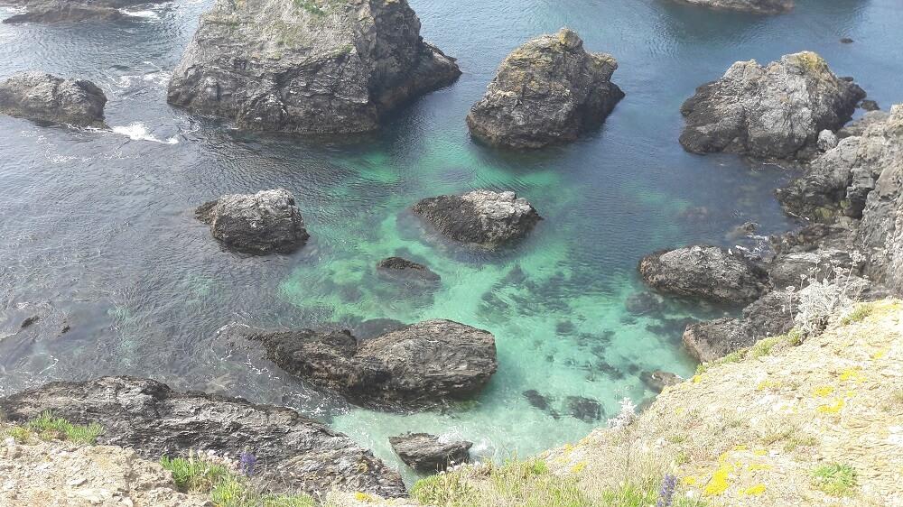 eau turquoise belle ile