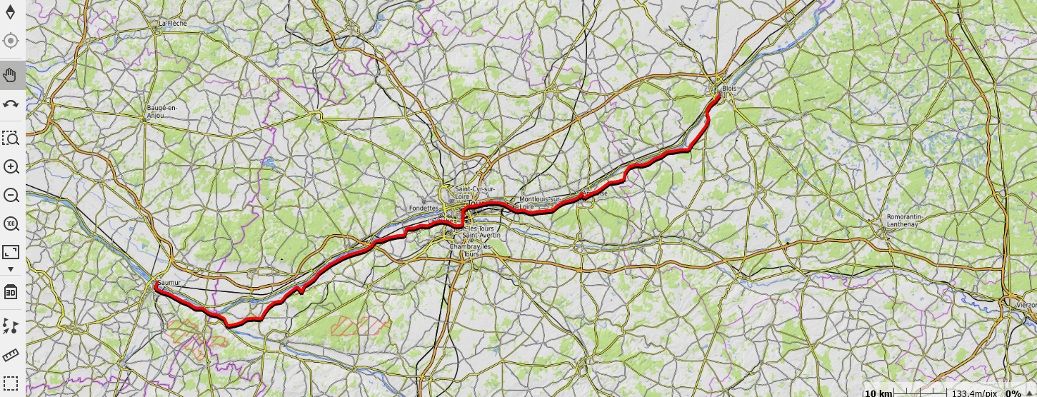 parcours gps velo